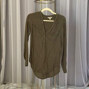 Lucky Brand Olive Green Blouse